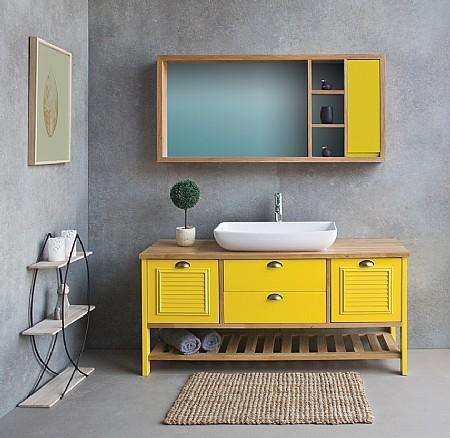 מדהים ארון אמבטיה עם כיור מונח או שקוע | א. ארונות אמבטיה מעוצבים HP-51
