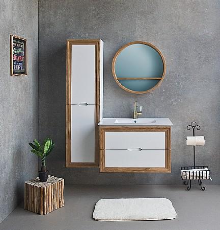 למעלה ארון אמבטיה עם כיור מונח או שקוע | א. ארונות אמבטיה מעוצבים EX-04