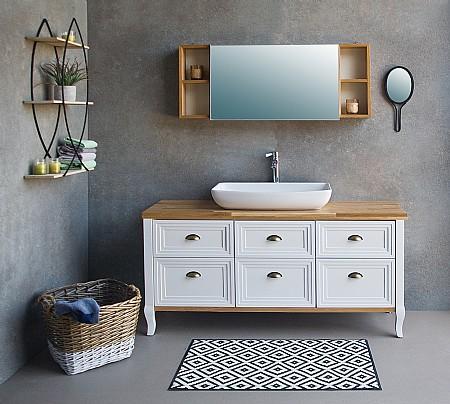 פנטסטי ארון אמבטיה עם כיור מונח או שקוע | א. ארונות אמבטיה מעוצבים VE-28