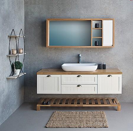 מקורי ארון אמבטיה עם כיור מונח או שקוע | א. ארונות אמבטיה מעוצבים OS-16