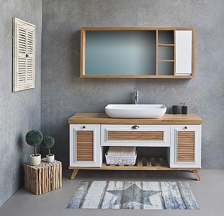 תוספת ארון אמבטיה עם כיור מונח או שקוע | א. ארונות אמבטיה מעוצבים FP-76
