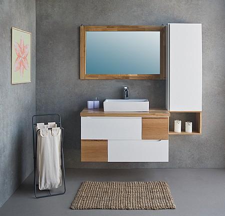 שונות ארון אמבטיה עם כיור מונח או שקוע | א. ארונות אמבטיה מעוצבים FO-06